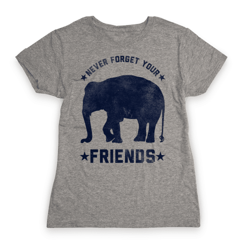 Never Forget Your Friends Womens T-Shirt