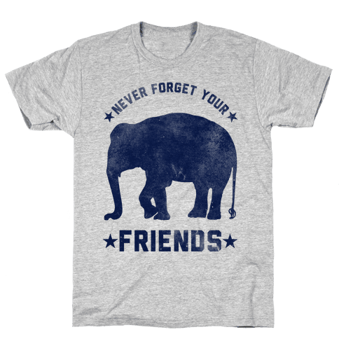 Never Forget Your Friends Mens T-Shirt