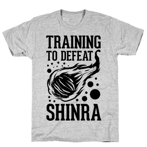 Training to Destroy Shinra Mens T-Shirt