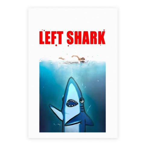 Left Shark Jaws Parody Poster