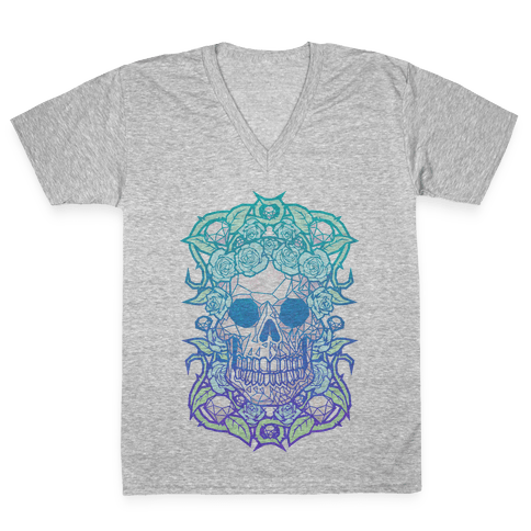 Diamonds and Roses V-Neck Tee Shirt