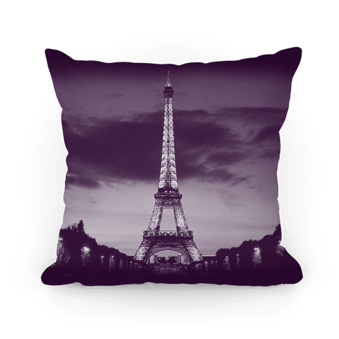 Eiffel Tower Pillow (Purple) Pillow