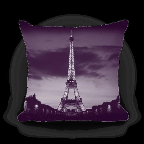 Eiffel Tower Pillow (Purple)