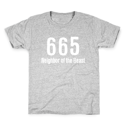 665, The Neighbor of the Beast Kids T-Shirt