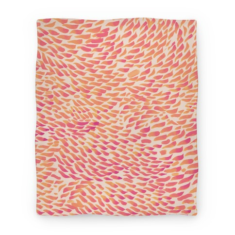 Watercolor Flower Petals Blanket