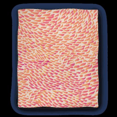 Watercolor Flower Petals Blanket