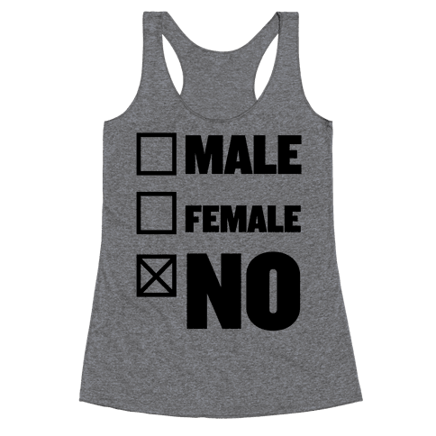 Male, Female, No Racerback Tank Top