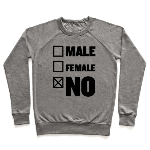 Male, Female, No Pullover