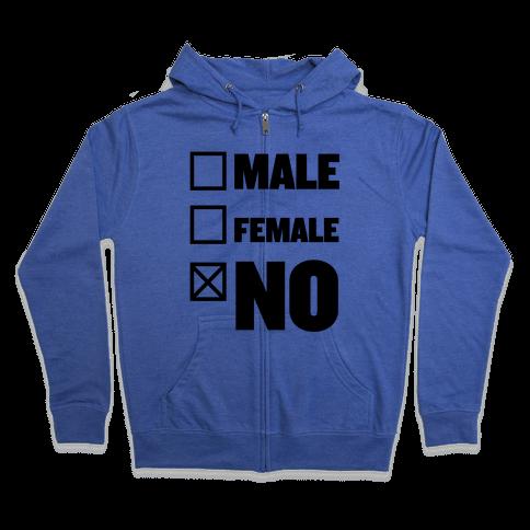 Male, Female, No Zip Hoodie