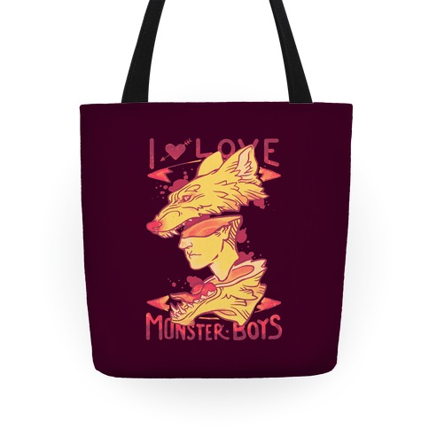 I Love Monster Boys Tote Tote
