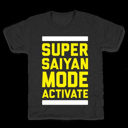 Super Saiyan Mode Activate Kids T-Shirt