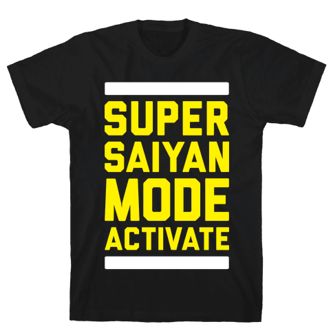 Super Saiyan Mode Activate Mens T-Shirt