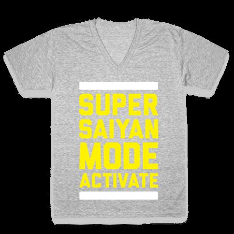 Super Saiyan Mode Activate V-Neck Tee Shirt