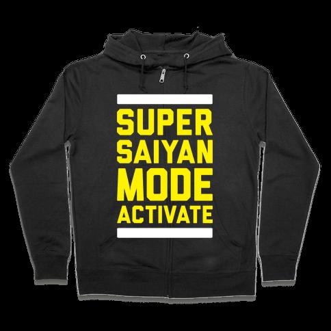 Super Saiyan Mode Activate Zip Hoodie