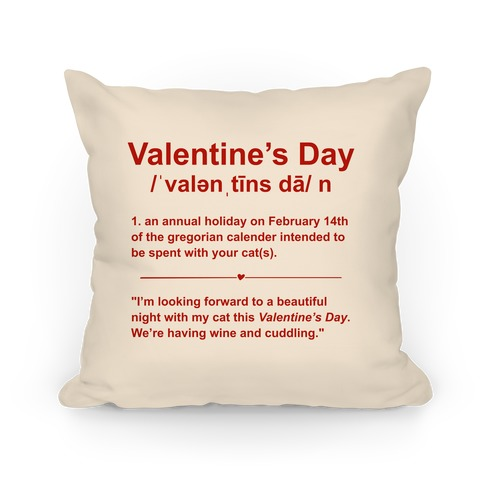 Valentine's Day Definition (Cats) Pillow