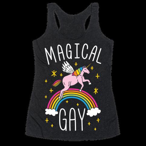 Magical Gay Racerback Tank Top