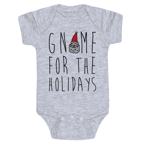 Gnome For The Holidays Baby Onesy