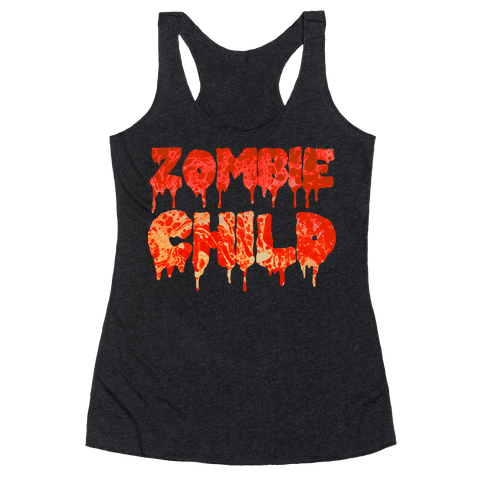 Zombie Child Racerback Tank Top