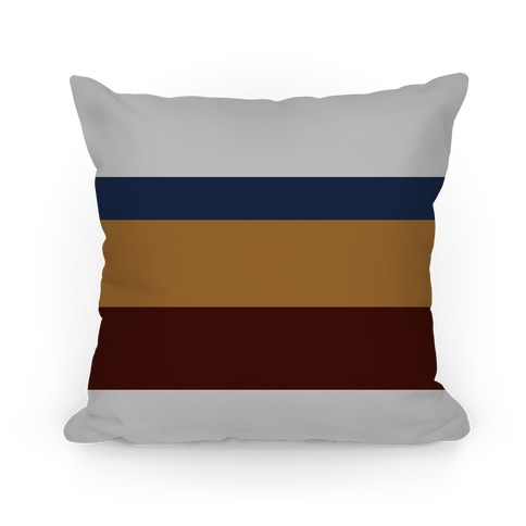 Multicolor Stripe Pillow (Dark Light Gray) Pillow