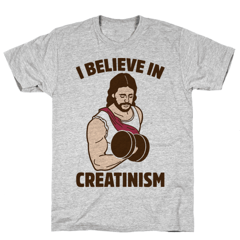 I Believe In Creatinism Mens T-Shirt