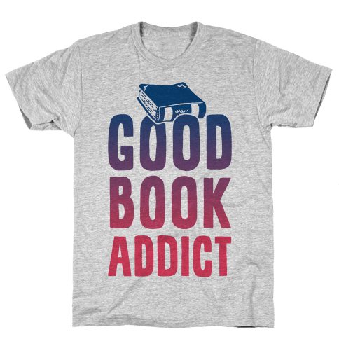 Good Book Addict Mens T-Shirt
