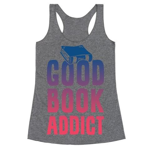 Good Book Addict Racerback Tank Top