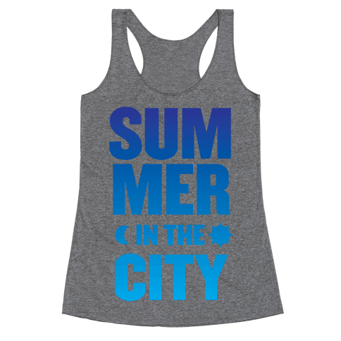 Summer In The City Racerback Tank Top