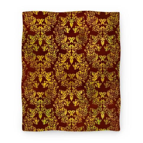 Floral Lion Blanket