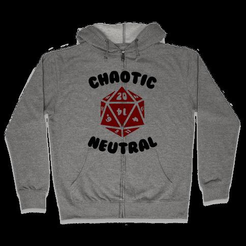 Chaotic Neutral Zip Hoodie