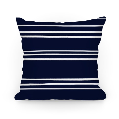 Navy Stripe Pattern Pillow