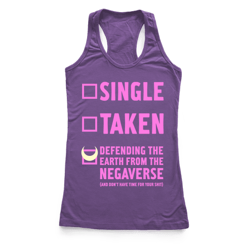 Single, Taken, Sailor Moon Racerback Tank Top