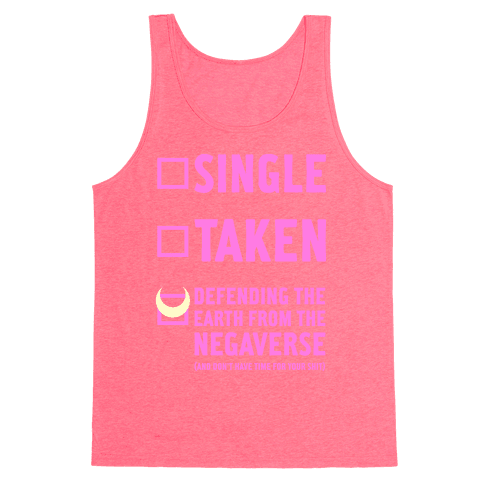 Single, Taken, Sailor Moon Tank Top
