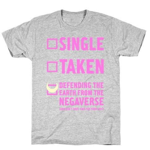 Single, Taken, Sailor Moon T-Shirt