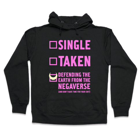 Single, Taken, Sailor Moon Hooded Sweatshirt