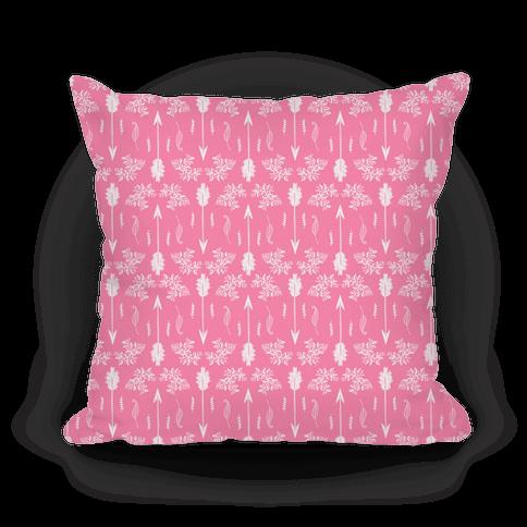 Pink Floral Arrow Pattern