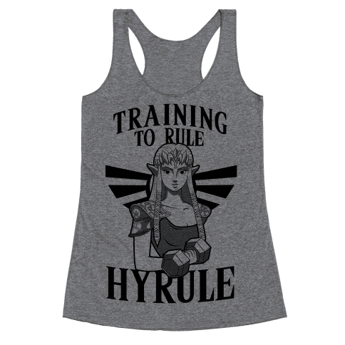 Training To Rule Hyrule Racerback Tank Top
