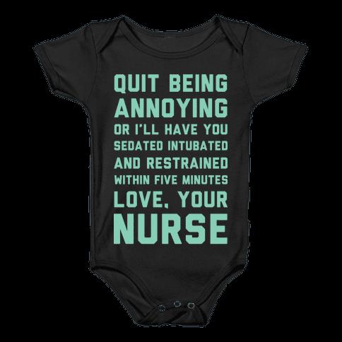 Love Your Nurse Baby Onesy