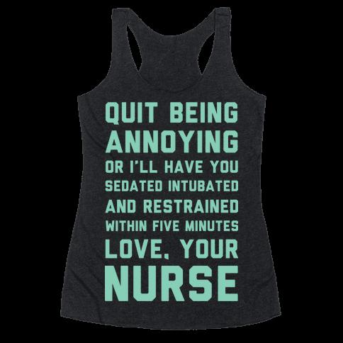 Love Your Nurse Racerback Tank Top