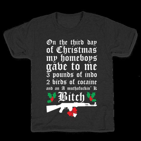 Christmas In The Hood Kids T-Shirt