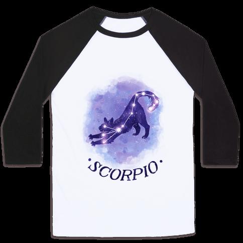Cat Zodiac: Scorpio Baseball Tee