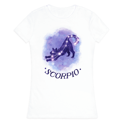 Cat Zodiac: Scorpio Womens T-Shirt