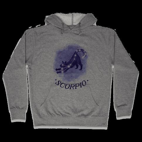 Cat Zodiac: Scorpio Hooded Sweatshirt