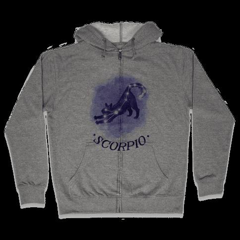 Cat Zodiac: Scorpio Zip Hoodie