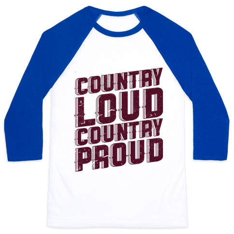 Country Loud Baseball Tee