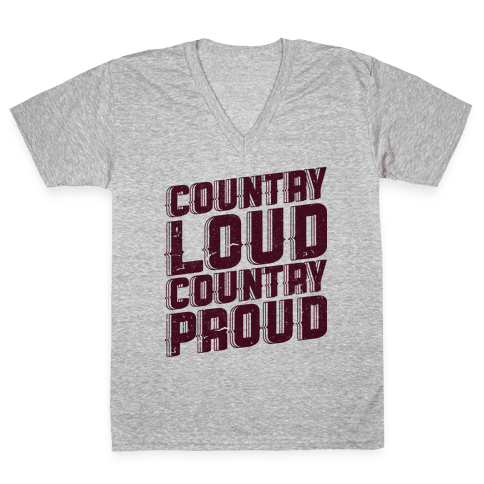 Country Loud V-Neck Tee Shirt