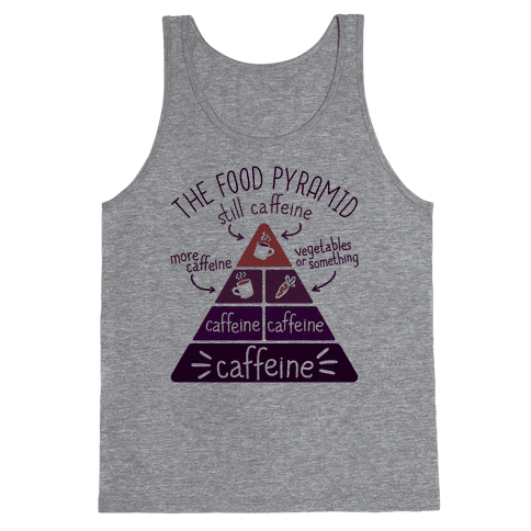 Coffee Food Pyramid Tank Top