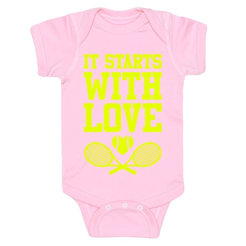 It Starts With Love Baby Onesy