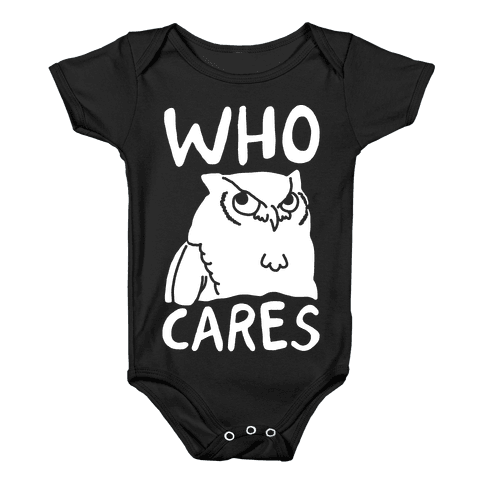 Who Cares Owl Baby Onesy