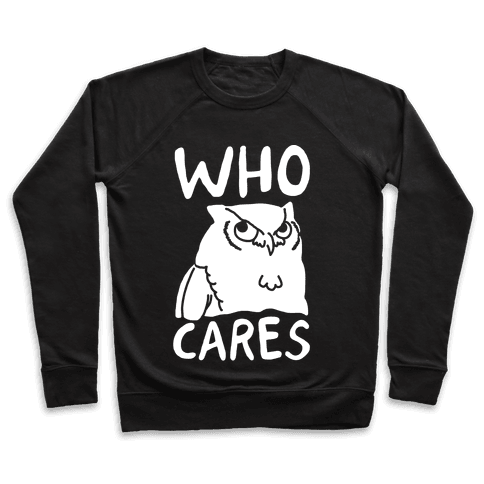 Who Cares Owl Pullover