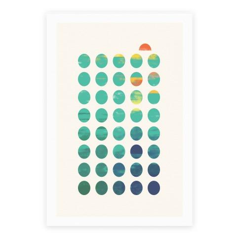 Circles Of Summer Poster